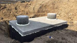 Dvojkomorová betónová žumpa - septik