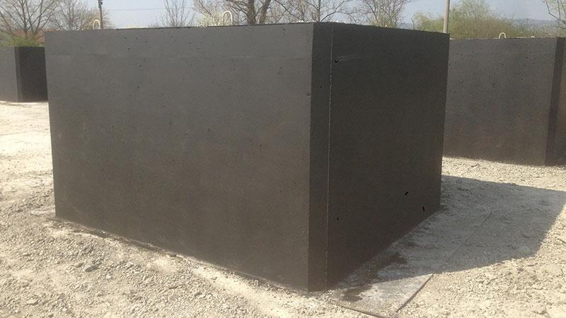 Jednokomorová betónová žumpa